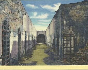 1930s Vintage Yuma Arizona Postcard Old Territorial Prison