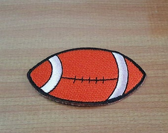 "Football Applique Embroidered Iron on Patch size 2 5/8"" x 1 1/2"""