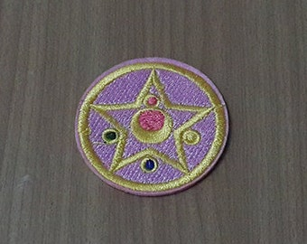 """Crystal Star Patch Sailor Moon Patch Iron on Patch size 2"""""""