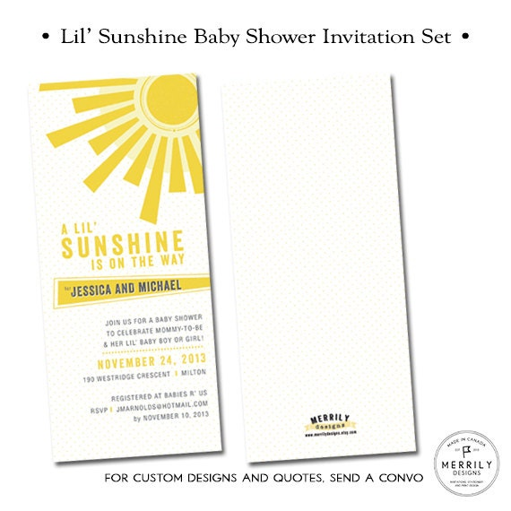 lil 39 sunshine baby shower invitations shower for baby boy or baby