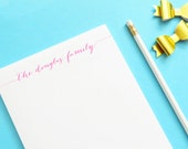 Personalized Notepad, Personalized Family notepad, custom notepad, Personalized wedding gift, Personalized Couples Gift Idea, EW001