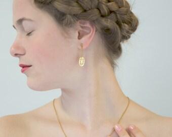 14k Gold dangle earrings, Gold Filigree earrings, 14k Yellow Gold earrings, 14k Solid Gold earrings, Dangle earrings Gold