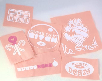 Killer Candy Fairy Kei Pink Punk Patches