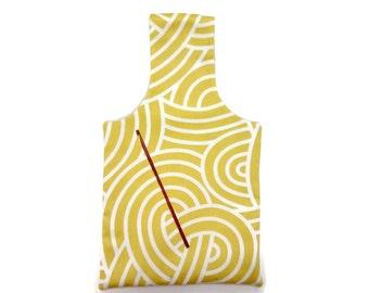 Small Goldenrod Swirls Yarn Bag Project Tote S46