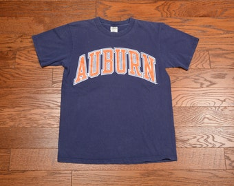 vintage 80s 90s Auburn Tigers t-shirt 1980 tee shirt Soffee USA 100% cotton M medium Made in USA soft faded vintage shirt