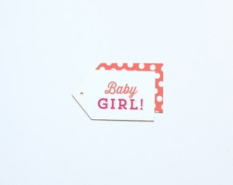 Baby Girl Gift Tags - 18 pack