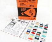 Automotive Finishes Books Martin Senour Paint Chips Color Catalog 1950s LOT of 2