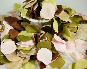 500 Boho Chic Wedding Rose Petals - Bohemian Party Decoration -  Tossing Petals - Silk Flower Petals - Flower Petals - Table Scatter