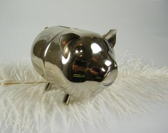 Raimond Piggy bank - Vintage Chrome Coin Bank