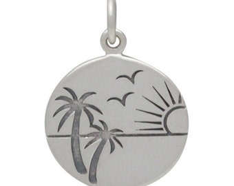 Etched Sunset in Paradise Charm