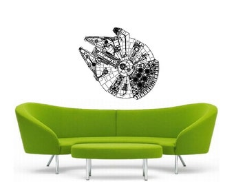 Millennium Falcon vinyl Wall DECAL- interior design, sticker art, room, home and business decor, Star Wars