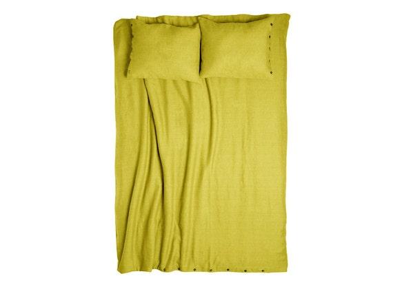 Mustard linen duvet Twin size Double Full Queen King size duvet covers Soft linen bedding