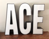 Reclaimed Metal letter - ACE - 24 inch