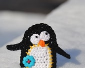 Crochet pattern - penguin applique by VendulkaM, digital pattern, DIY, pdf