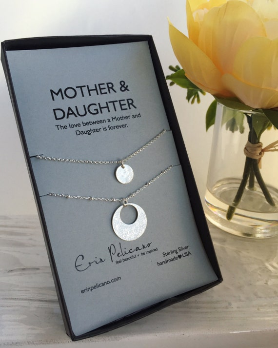 Mother Daughter Necklace. Valentines Gift for Mom. Mom Daughter ...