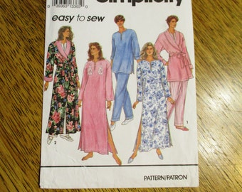 BOHO Caftan / Tunic Top / Pajama Pants & Bath Robe - EASY to Sew - Size (Pt - S - M) - UNCUT Sewing Pattern Simplicity 8142