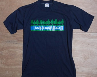 MED | Navy Blue Vintage Wildwood Camp T Shirt