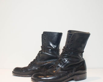 8.5 R | Men's 1981 Combat Boots Standard Issue Military Lace Up Boot