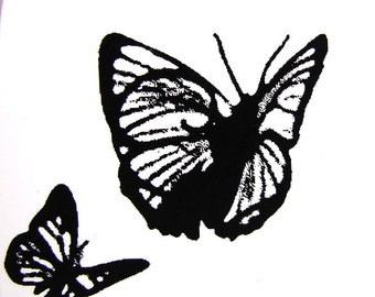 Butterfly Embellishment Stamp (Rubber Cling Mount Stamp) - Perfect for paper crafts, fabric, and more