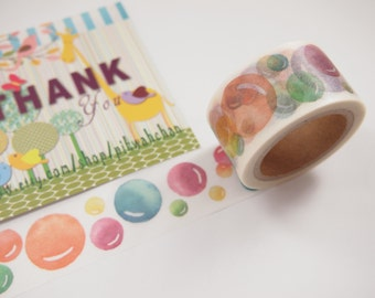 Colorful Bubbles Washi Tape (25mm X 7M)
