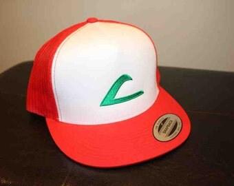 Ash Ketchum Pokémon League Expo hat Logo Cosplay Costume