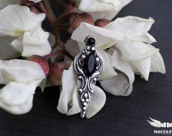 Gothic Crystal Bindi with black Swarovski crystals - Gothic Bindi