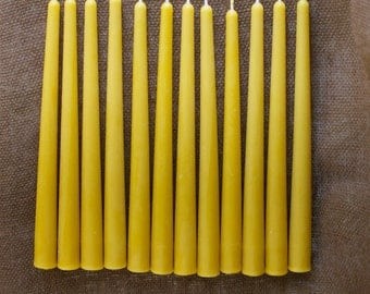 "10"" 100% Pure Beeswax Tapers (set of 12)"