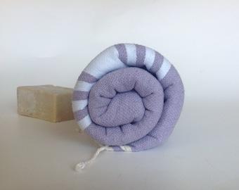 Turkish Towel home-garden / bath-beauty Peshtemal , Natural Soft Cotton Beach, Guest towel, lilac