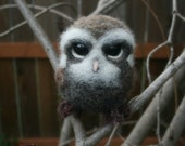 Needle Felted Wool Owl Sculpture