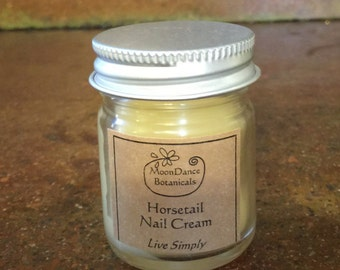 Horsetail Nail Cream, All Natural, Organic Nail Cream with Horsetail by MoonDance Botanicals - 10 ML or 1 OZ
