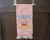 Sing Embroidered Towel