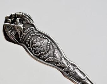 Antique 1915 State of Illinois Souvenir Spoon