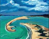 Florida Painting, Cayo Costa Coast State Park, FL, Original Art, Acrylic Paint.