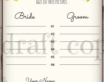 Guess the Bride's Age | Instant Download