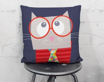 Kids throw pillow, nursery throw pillow, cushion cover, decorative pillows, children bedding, nursery decor, kids bedding, kids pillows, boy