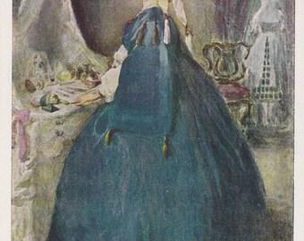 "Leon Bakst ""At Her Toilet"" Postcard --  1962"
