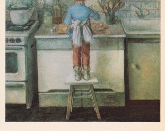"O. Otroschenko ""Little Mistress"" Print, Postcard -- 1970s. Condition 9/10"
