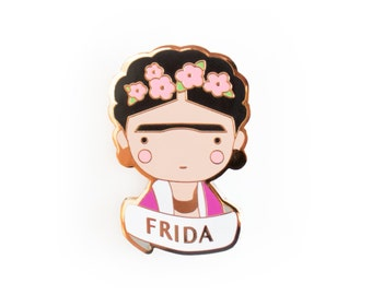 Frida Kahlo Pin Brooch Enamel jewellry