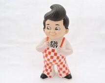 Vintage 1970's Bob's Big Boy Restaurant Mascot Bank - Vinyl Coin Bank Figurine