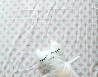 Kit the Cat Pillow, Baby Toddler Playroom, Nursery Decor, Play Stuffed Pillow, Sweet Baby girl Kitten, Eyes