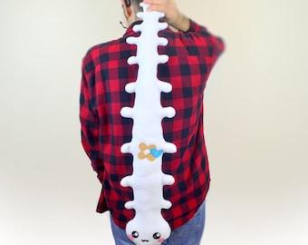 Giant Spine Plushie Backbone pillow soft toy softie kawaii cushion organ bone back