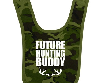 Uncle hunting buddy etsy future hunting buddy bib baby shower gift funny geek personalized nerd cute fun boy girl aunt negle Image collections