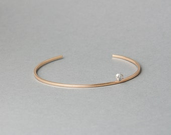 14/20 Gold-Fill Moonstone or Hematite Station Bracelet | Sequence Collection by Haley Lebeuf