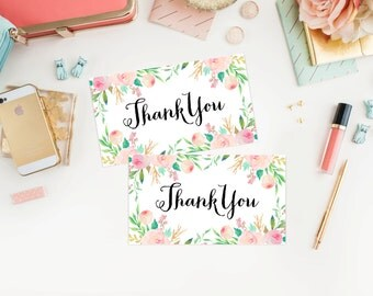 Instant Download - Spring Shower Thank You Tags