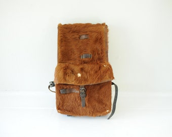 Vintage 1935 Cowhide Swiss Military Backpack