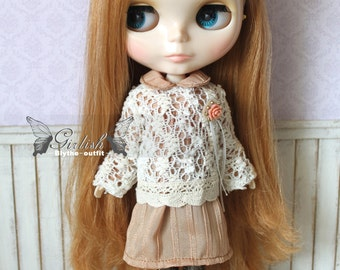 Girlish - Mori Salmon Set for Blythe doll - dress / outfit