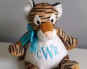 Personalized stuffed tiger, baby gift,personalized stuffed animal, monogram stuffed tiger toy, monogrammed baby cubbies
