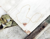 Wooden Heart Pendent with Brass back