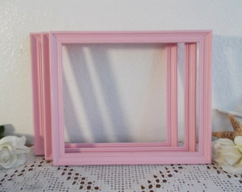 Pink Shabby Chic Picture Frame 9 x 11 Photo Decoration Paris Apartment French Country Romantic Cottage Baby Girl Nursery Home Decor Gift