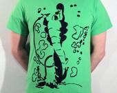 Wonderland Caterpillar ICON T-Shirt - Lime Green, Size M
